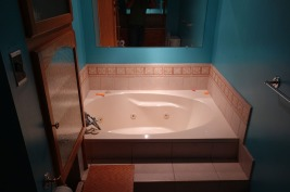 Bathtub on main floor